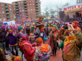 People are dancing while covered with colored powders during the celebration of the Indian Holi Festival, in The Hague on March 21st, 2019. Millions of people around the world celebrate the annual Holi Hangámá Festival, also known as the Festival of Colours. For Hindus it's a celebration of the arrival of spring, the New Year and victory all in one. The largest Indian population in Europe (outside of the UK) can be found in The Hague, this is one of the largest in Europe. The highlight of the Holi celebrations is the procession through the multicultural Transvaal and Schilderswijk neighbourhoods. Participants in the procession throw brightly coloured powder on themselves and at each other to show that spring has begun. This year is also a very special celebration, they are also celebrating 145 years of the Hindustani immigration.(Photo by Romy Fernandez/Sipa USA)